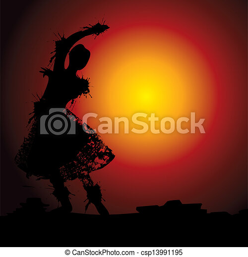 illustration of Indian dance - csp13991195