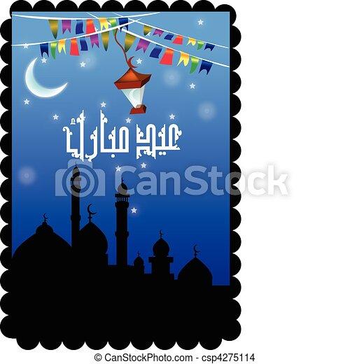 illustration of Islamic Art design - csp4275114