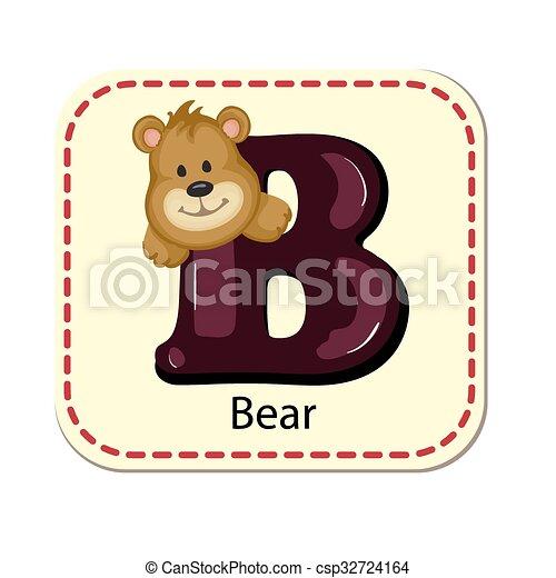 Illustration of isolated alphabet B - csp32724164