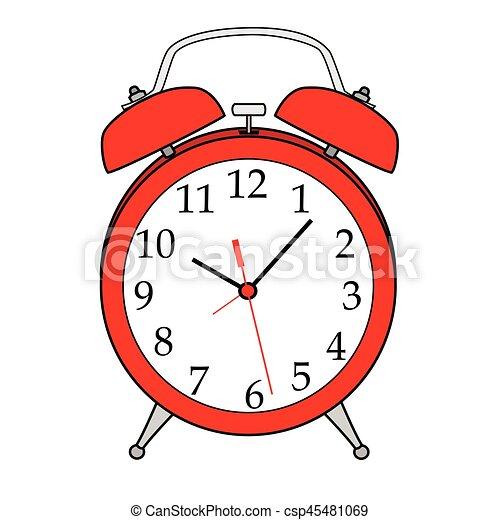 illustration of isolated cartoon alarm clock vector eps 8 clip art rh canstockphoto com alarm clock vector image alarm clock vector png