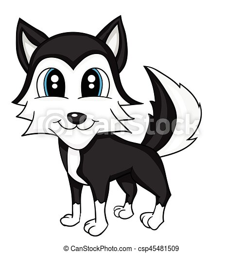 illustration of isolated cartoon cute dog vector clipart search rh canstockphoto com dog vector artwork dog vector files