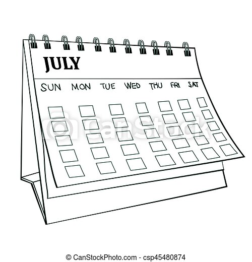 Illustration of Isolated Cartoon Calender. Vector EPS 8. - csp45480874