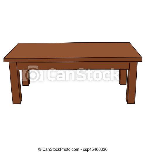 Illustration Of Isolated Cartoon Table Illustration Of