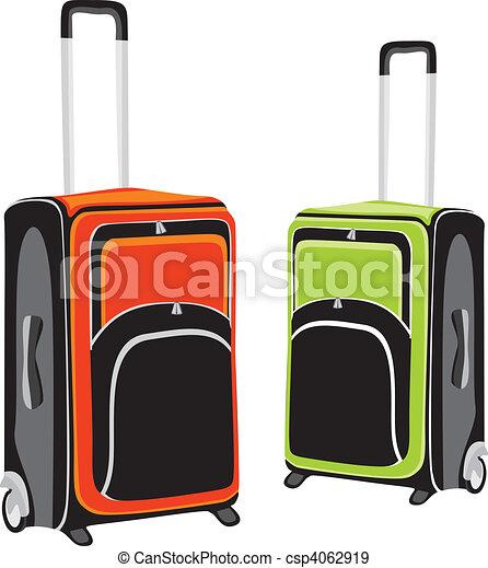 illustration of isolated luggage - csp4062919