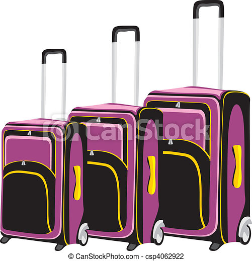 illustration of isolated luggage - csp4062922