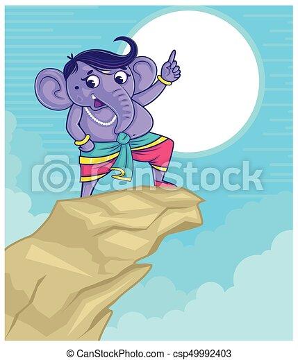 illustration of Lord Ganpati background for Ganesh Chaturthi - csp49992403