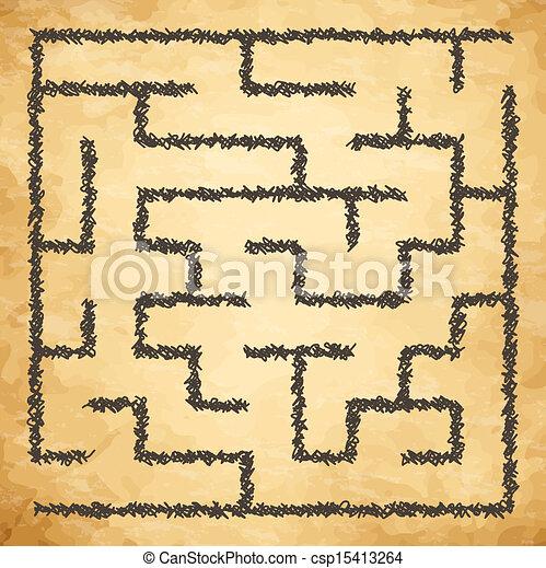 Illustration of maze - csp15413264