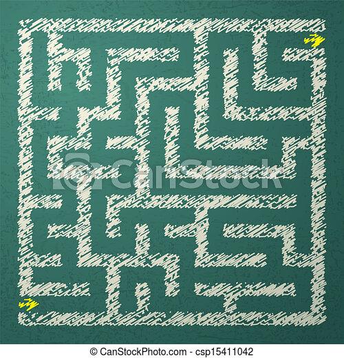 Illustration of maze - csp15411042