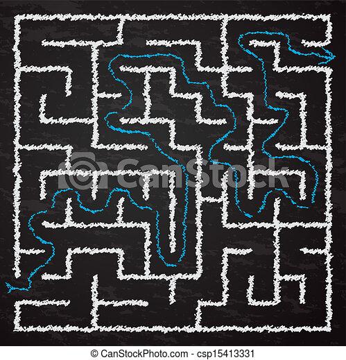 Illustration of maze - csp15413331