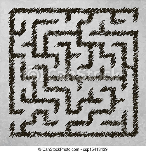 Illustration of maze - csp15413439