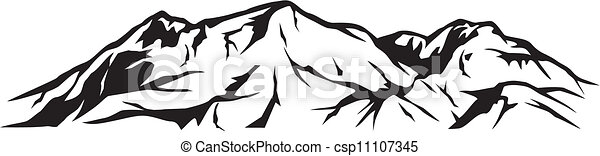 illustration of mountain landscape - csp11107345