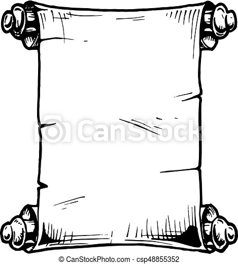 illustration of old scroll vector hand drawn illustration of old rh canstockphoto com scroll vector icon scroll vector free to download