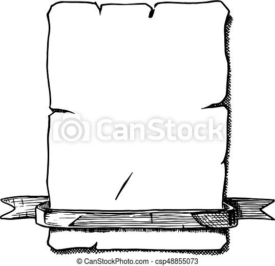 illustration of old scroll vector hand drawn illustration rh canstockphoto com scroll vector free download scroll vector png