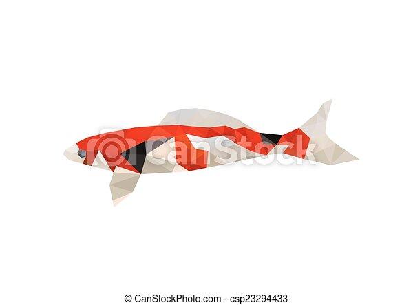 Illustration Of Origami Koi Fish Illustration Of Origami Fish