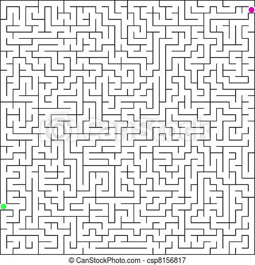 illustration of pergect maze. EPS 8 - csp8156817