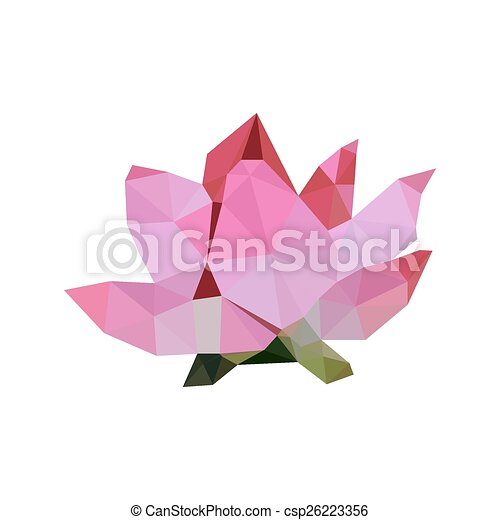 Illustration Of Pink Origami Lotus