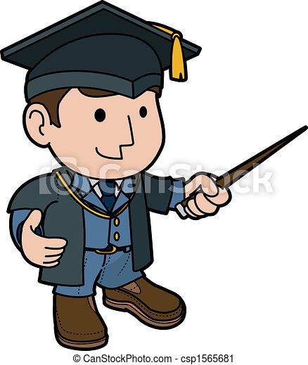 Illustration of professor  - csp1565681