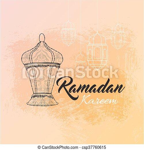 Illustration of ramadan kareem and ramadane mubarak with vector illustration of ramadan kareem and ramadane mubarak with lantern traditional greeting card wishes m4hsunfo