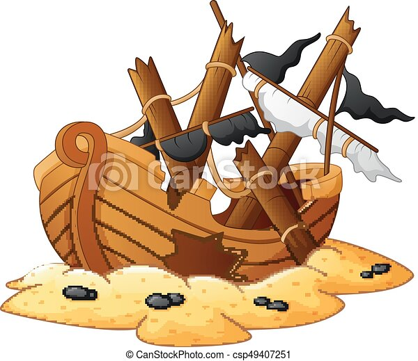 illustration of shipwreck vector illustration of shipwreck rh canstockphoto com shipwreck clipart black and white Shipwreck Cartoon Gallery