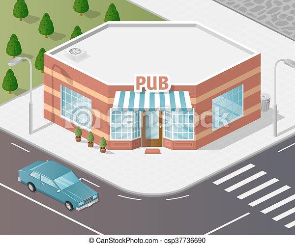 Illustration of shop. - csp37736690