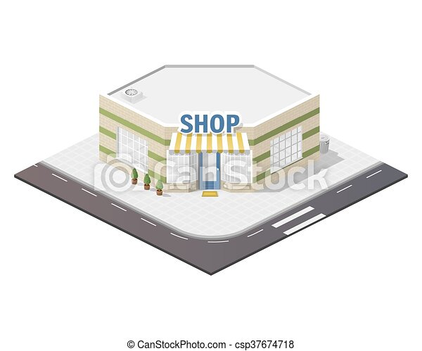 Illustration of shop. - csp37674718