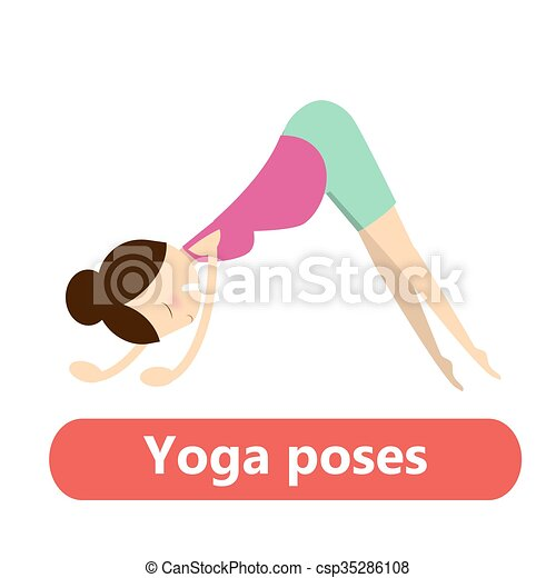 illustration of simple yoga poses for pregnant woman for