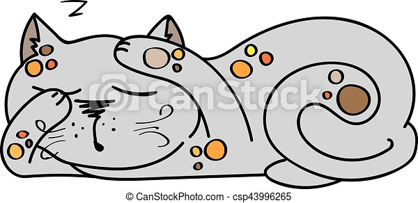 illustration of sleeping cute kitten illustration of clip art rh canstockphoto com  cute kitten face clipart