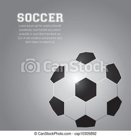 illustration of soccer ball  - csp10305892