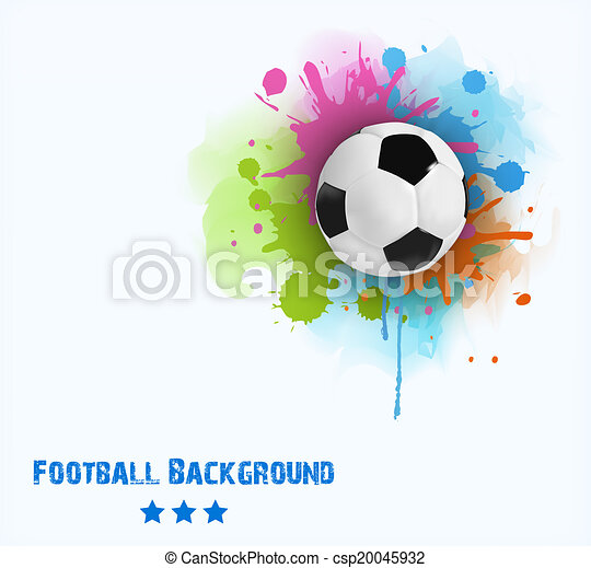 illustration of soccer ball - csp20045932