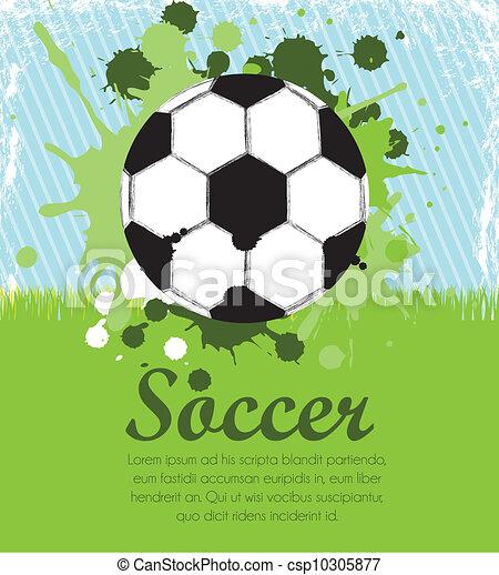 illustration of soccer ball  - csp10305877