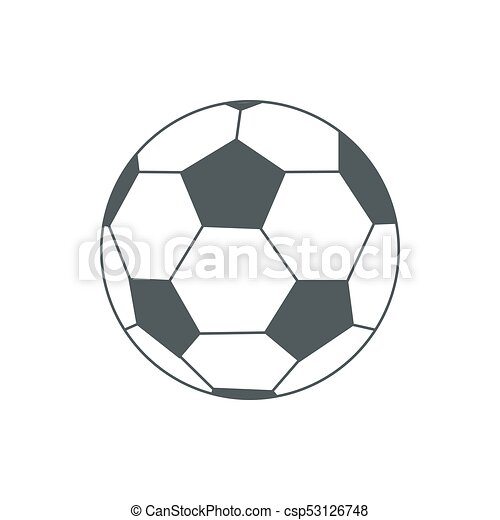 illustration of soccer-ball isolated on white for your design - csp53126748