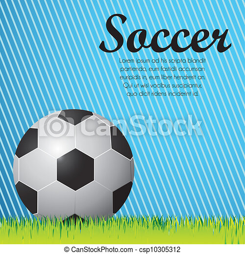 illustration of soccer ball  - csp10305312