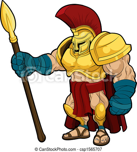 Illustration of Spartan gladiator - csp1565707