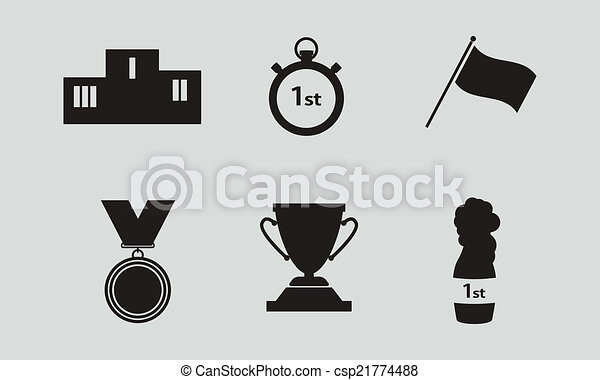 illustration of sport icon in flat designed with shadow - csp21774488