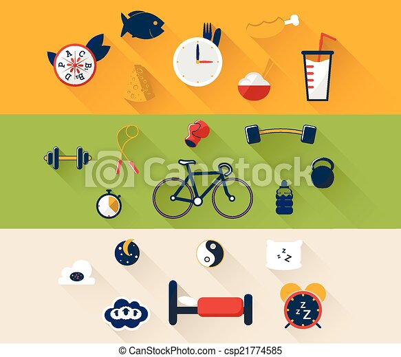 illustration of sport icon in flat designed with shadow - csp21774585