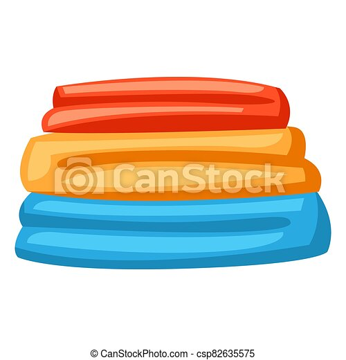 Illustration of stack folded clothes. - csp82635575