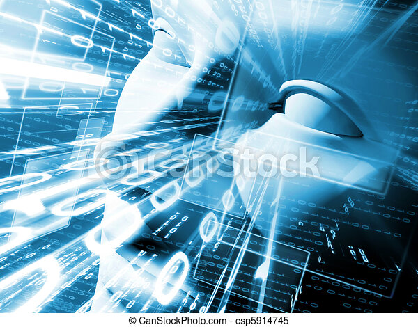 Illustration of technology - csp5914745
