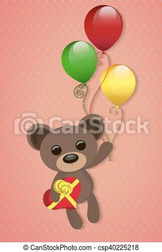 illustration of Teddy bear - csp40225218