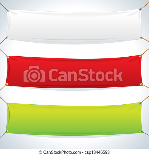 Illustration of Textile Banners. Vector Template - csp13446593