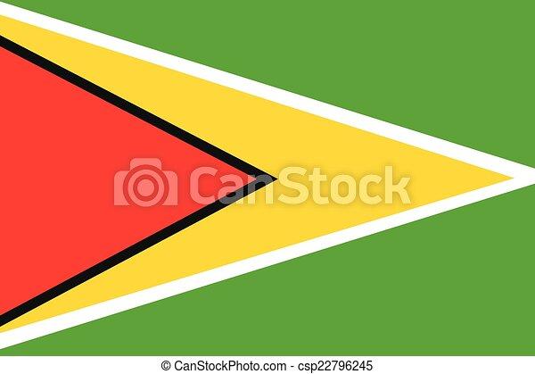 Illustration of the flag of Guyana - csp22796245