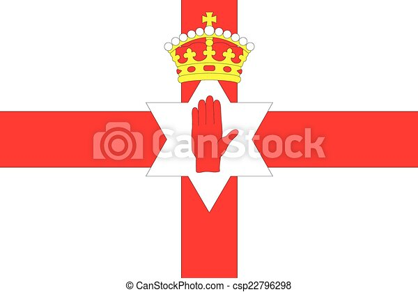 Illustration of the flag of Northern Ireland - csp22796298