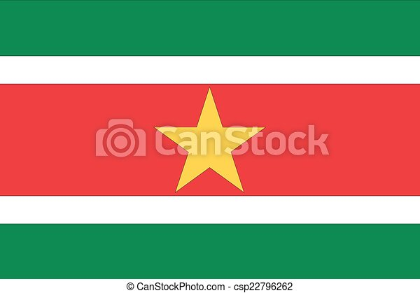 Illustration of the flag of Suriname - csp22796262