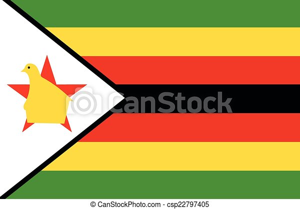 Illustration of the flag of Zimbabwe - csp22797405