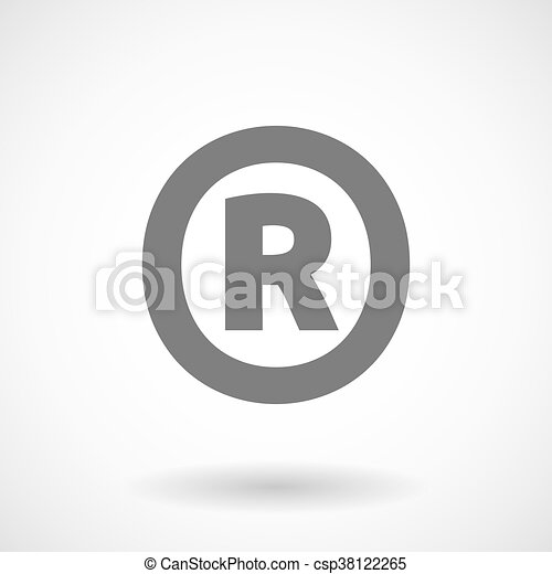 Isolated Vector Illustration Of The Registered Trademark Clip Art