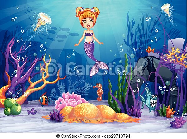 How To Draw Underwater Scenery Step by step - YouTube  Underwater World Drawings
