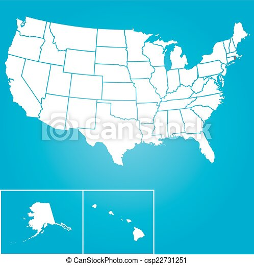 Illustration of the United States of America State - Rhode Islan - csp22731251