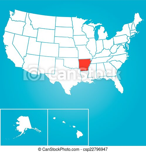 Illustration of the United States of America State - Arkansas - csp22796947