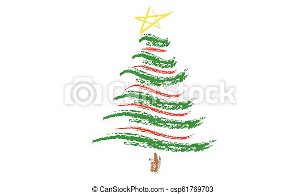 Drawing Christmas Tree Sketch.Illustration Of Tree Sketch For Christmas