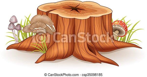 Illustration of tree stump  - csp35098185