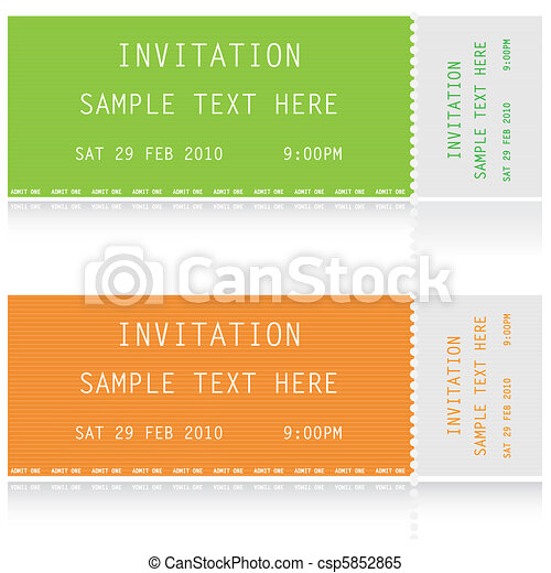 Illustration of two tickets - csp5852865